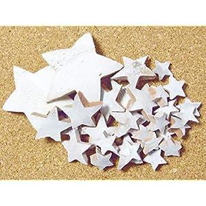 27 echte Kokossterne Mix Natur Weiß gewischt Weihnachten Potpourri Deko Sterne Advent Gesteck Kranz Weihnachtsgeschenke