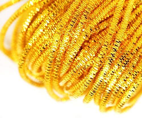 10 g de Oro Amarillo de la Ronda de Lingotes de Espiral de Cobre Bordado a Mano francés Fino Hilo Metálico Orfebrería de Luneville Tambor Indio Gimp Nakshi Revés