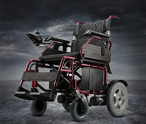 Y-L Ältere Behinderte !!! Motorisierter Rollstuhl - Neuer Leichtgewicht-Elektrorollstuhl mit Klappsteuerung Motorisierte Mobilitätshilfe