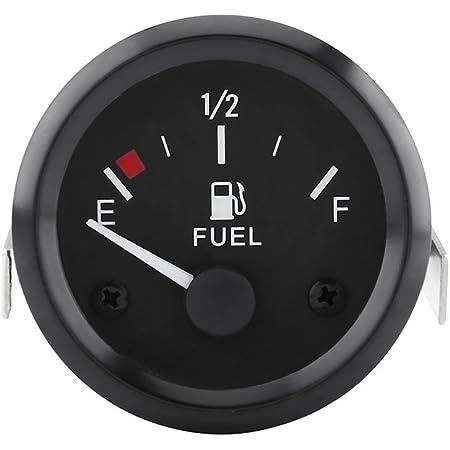 Deror Jauge de Niveau de Carburant 2 Pouces Affichage de la jauge de Niveau de Carburant lumi/ère Blanche avec capteur de Flotteur Universel pour v/éhicules /à Essence 12 V