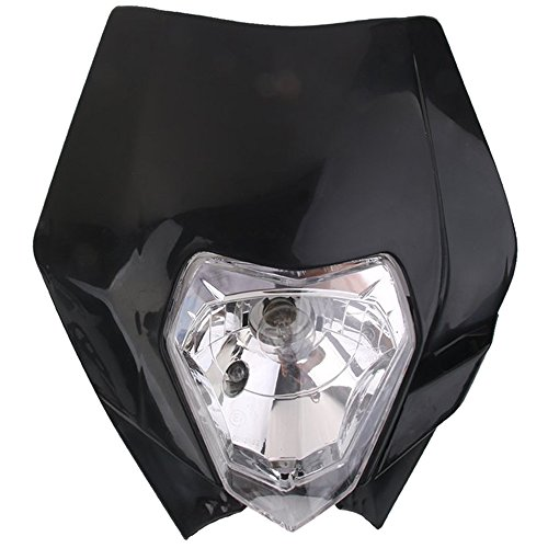 REFURBISHHOUSE Faro Universal de Enduro Motocicleta para Yamaha KTM- Negro