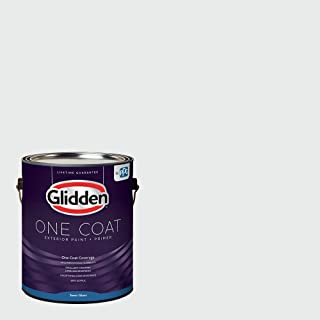 Glidden Exterior Paint + Primer: White/White, One Coat, Semi-Gloss, 1 Gallon