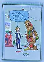 18Star Wars Han SoloチューバッカホールマークFunnyゾーンHolidayクリスマスグリーティングカードボックスセット