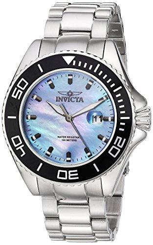Invicta 23067 Pro Diver Herren Uhr Edelstahl Quarz platin Zifferblat
