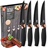 Taylors Eye Witness Brooklyn 4pc Steak Knife Set - Copper Bolster