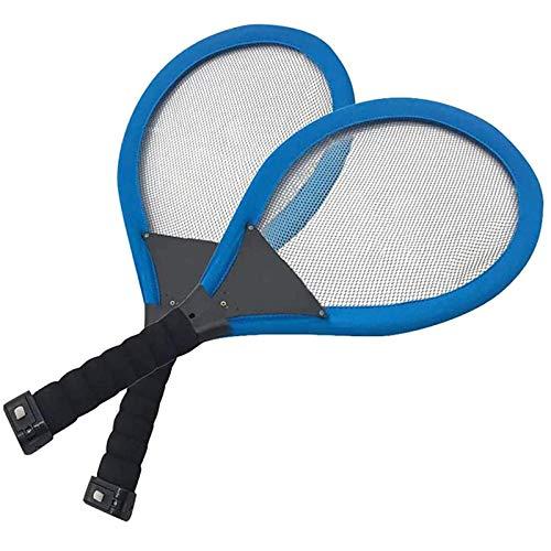 Cestbon Raquetas de bádminton, luz de la Noche al Aire Libre, Entrenamiento, LED Badminton Club Set, Luces en la Oscuridad, el Entretenimiento Familiar Estándar,Azul