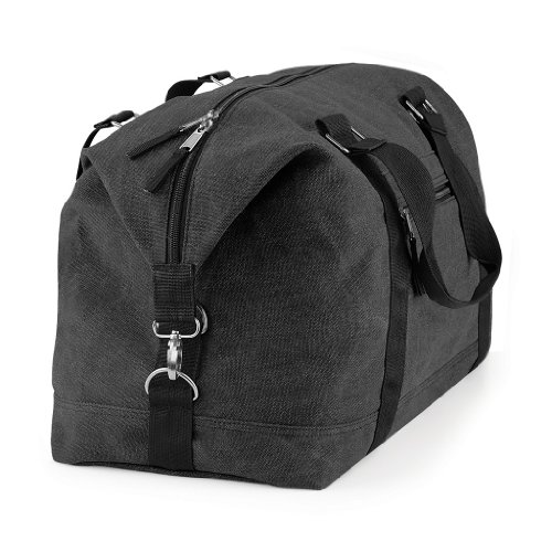 BagBase Reisetasche 'Vintage CANVAS Weekender', Farbe:Vintage Black Schwarz