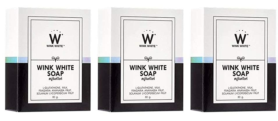 文句を言う入植者余計なGluta Pure Soap Wink White Whitening Body 80 Grams by Wink White