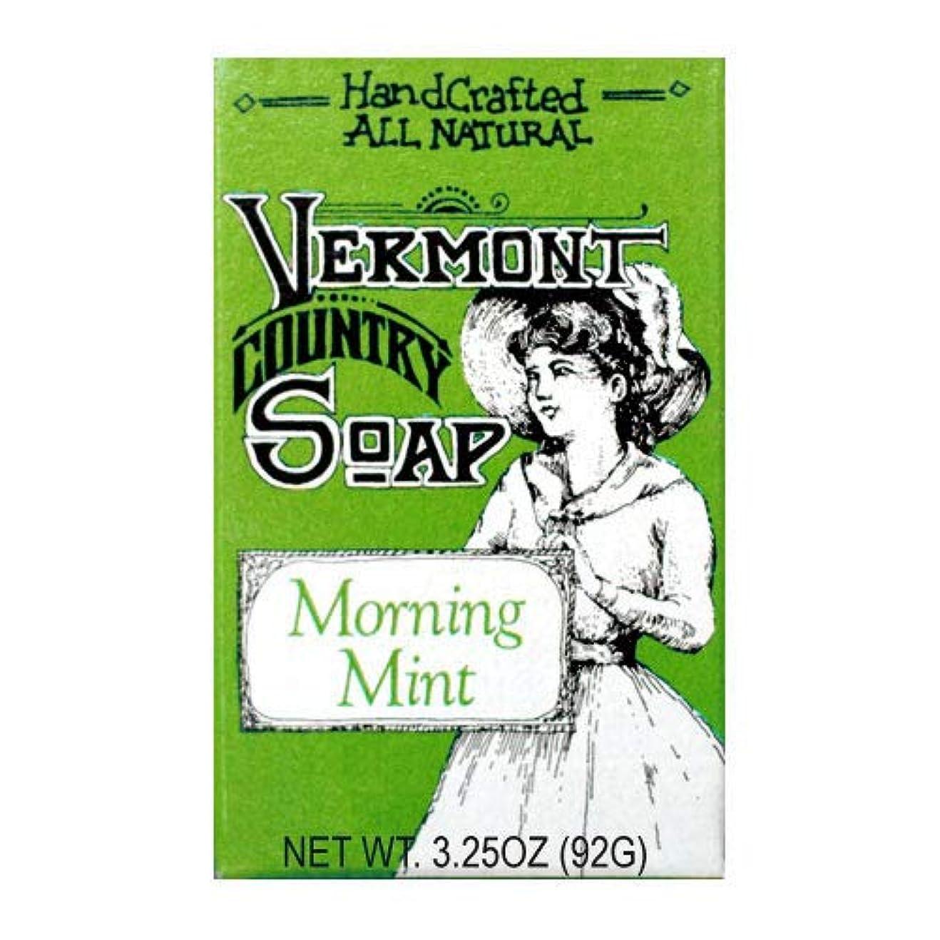 VermontSoap バーモントカントリーソープ 6種類 (モーニング ミント) 92g オーガニック石けん 洗顔 ボディー