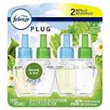 Febreze Plug Air Freshener Scented Oil Refill, Morning & Dew, 2 Count