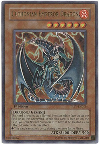 Yu-Gi-Oh! - Chthonian Emperor Dragon (TAEV-EN019) - Tactical Evolution - Unlimited Edition - Ultra Rare