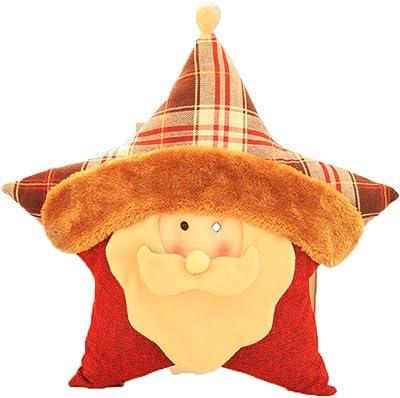 Amazon.com: Fmissyao almohada de estrella de Navidad, cojín ...