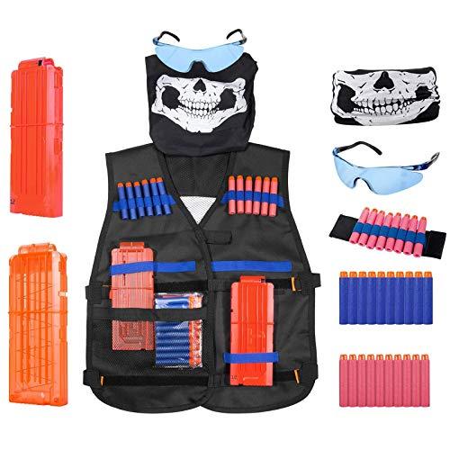 Diealles Bambini Veste Tattica Gilet Tattico Giubbotto Kits per Nerf N-Strike Serie