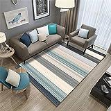 alfombra mostaza y azul