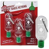 Mini Botella tamaño Llavero para Salsa Picante Sriracha - Botellita de Bolsillo para Salsa Sriracha - Lleva contigo Salsa Picante a Donde Sea Que vayas (Se envía vacío)