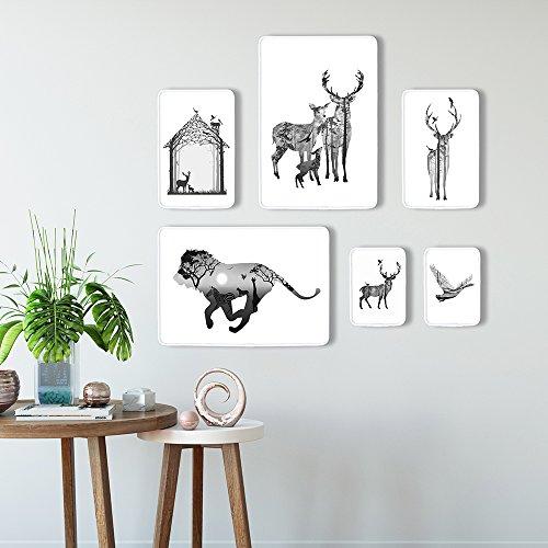 La combinaison créative Cadre photo mural Nordic Bijoux murale des animaux, animaux 1er nordiques