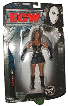 World Wrestling Entertainment WWE Series 3 Extreme Championship Wrestling ECW 6-1/2 Inch Tall Wrestler Action Figure - LAYLA EL  WWE Dive 2006  with Microphone