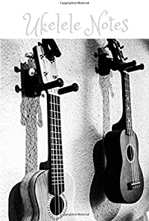 Ukelele Notes: Blank 4 Line Stave Tabs and Chord Chart Book