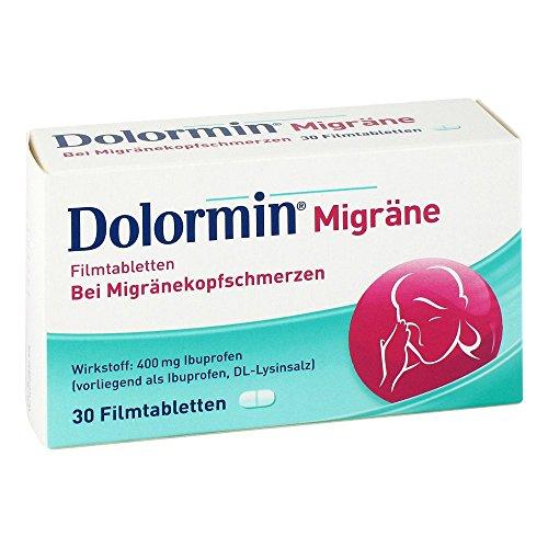 Dolormin Migräne Filmtabletten bei Migränekopfschmerzen, 30 St. Tabletten