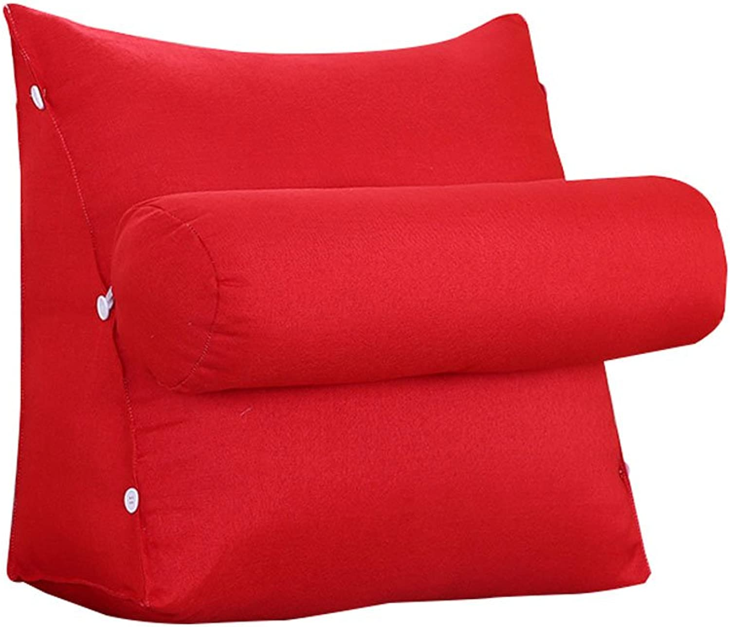 DDSS Bed cushion Triangle Headboard Pillow Sofa Bed Headrest with Headrest Lumbar Pillow Backrest Waist Pads Office Pillow Bay Window Cushion Back Pure color  -  (color   B, Size   45cm20cm50cm)