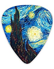 Guitar Picks van Gogh the starry night Guitar Plectrums for Electric Guitar Acoustic Guitar Mandolin and Bass(12 Pack Includes Thin Medium Heavy Gauges)