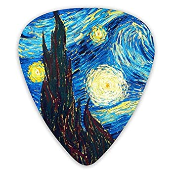 Guitar Picks van Gogh the starry night Guitar Plectrums for Electric Guitar Acoustic Guitar Mandolin and Bass 12 Pack Includes Thin Medium Heavy Gauges