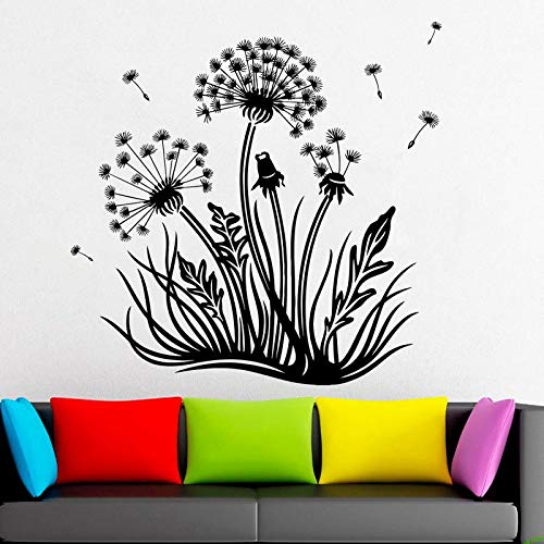 zgldx73 Löwenzahn Dekoration Blume Pflanze Natur Geschenk Wanddekoration Fensteraufkleber Wohnzimmer Vinyl Aufkleber Wandbild 42x42cm