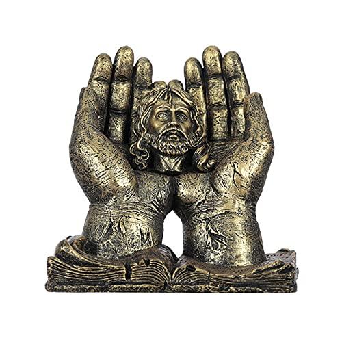 Zhantie Estatua religiosa creativa del ángel de la Virgen del Cristo de la mano para la decoración del dormitorio del hogar