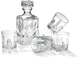 Bormioli Rocco Selecta Collection Whiskey Gift Set – Sophisticated Etched 33.75oz Decanter & 6 9.5oz Glass Tumblers With Starburst Detailing – For Whiskey, Bourbon, Scotch & Liquor (B000WA9ROI) | Amazon price tracker / tracking, Amazon price history charts, Amazon price watches, Amazon price drop alerts