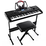 Joy 61-Key Electronic Keyboard Pack with Headphones,MicrophoneStand,Stool,and Power Supply