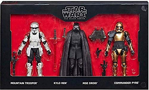 "Hasbro Disneyland Star Wars Galaxy's Edge Black Series First Order 6"" Figure 4-Pack Disney Parks Exclusive"