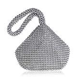 Bolso De Noche Mujeres Bolsos De Noche De Mujer Diamantes De Imitación Cubo Damas Bolso De Embrague Bolsos De Mujer-Ym1217Silver