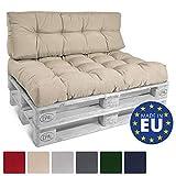 Beautissu Palettenkissen ECO Style Rückenkissen 120x40x10-20 cm Outdoor Palettenauflage...