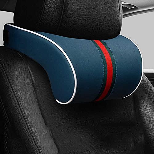 LZZCTB Cojín de Almohada para el Cuello del reposacabezas del Coche, Apto para VW Touran Passat B6 Golf 7 5 6 T5 T4, Apto para Fiat 500