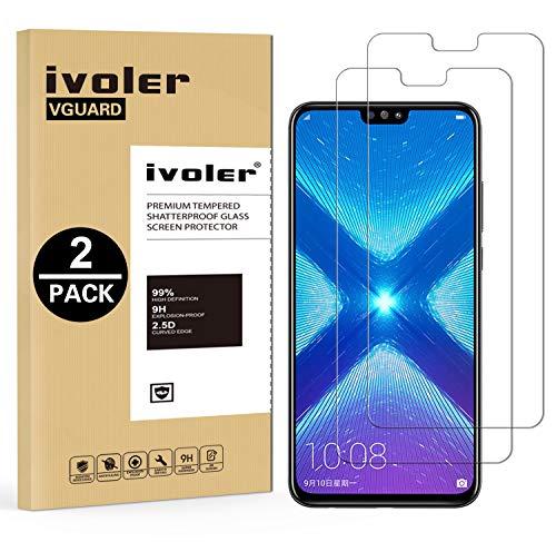 iVoler [2 Pack] Pellicola Vetro Temperato per Huawei Honor 9X Lite/Huawei Honor View 10 Lite, Pellicola Protettiva, Protezione per Schermo - Transparente
