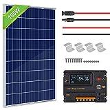 ECO-WORTHY Kit pannelli solari 100 Watt 12V + regolatore di carica 20A per...