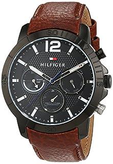 Tommy Hilfiger Herren Analog Quarz Uhr mit Leder Armband 1791269 (B01HBJ7OHY) | Amazon price tracker / tracking, Amazon price history charts, Amazon price watches, Amazon price drop alerts