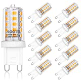 AGOTD Bombillas LED G9 4W Equivale 40W Halógena, 2700K Blanco Cálido 400LM, 360 Grados, AC200-240V, No Regulable, Pack de 10