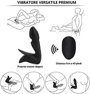 LSDFMLM-9L 10VibrationsTwowayVibrationInvincibleSoft Product forManinBedroom-WirelessRemoteControl(Black)