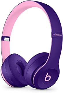 Beats Solo3 Wireless On-Ear Headphones - Beats Pop Collection - Pop Violet (Renewed)
