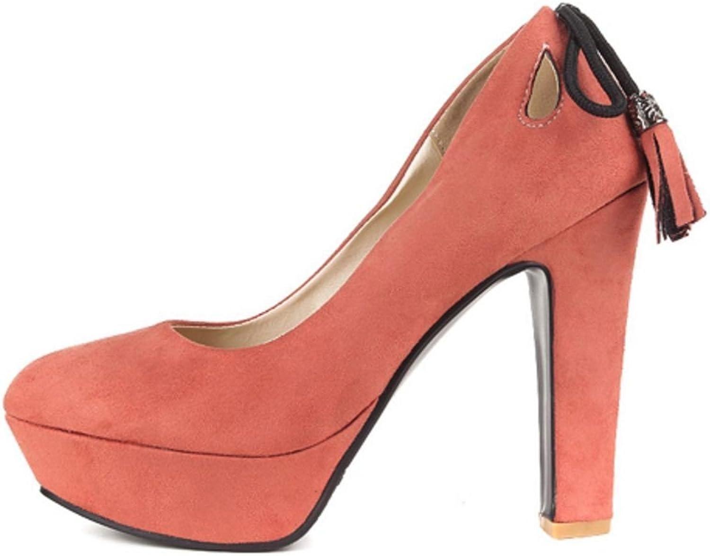 Garyline Women Fashion Platform Stiletto Pumps High Heels shoes Slip on Fringed
