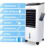 VEOVA Air Cooler Pro - multifunctional mini air conditioner - powerful air purifier for clean, cool air - small mobile fan / air conditioner - with remote control