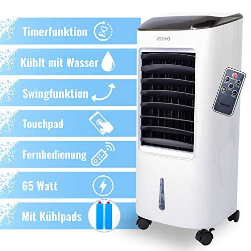 VEOVA Air Cooler Pro - Multifunktionale Mini Klimaanlage - leistungsstarker Luftreiniger für saubere, kühle Luft - kleiner mobiler Ventilator / Klimagerät - mit Fernbedienung