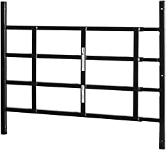 Prime-Line producten S 4763 Vaste raambescherming, 55,9 cm. - 96,5 cm. x 21-1/5.1 cm, Staal, Zwart, 4-Bar, Niet-Egress