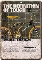 桑原BMXレースバイク 金属板ブリキ看板警告サイン注意サイン表示パネル情報サイン金属安全サイン