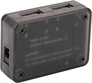 Changor Módulo de ajuste electrónico, regulador de voltaje, panel solar 24 W máx. * 2 de plástico