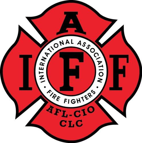 """Fire Fighters International Association IAFF 4""""x4"""" RED Sticker Decal Vinyl"""