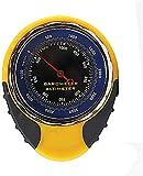 HJJH 4-en-1 altímetro, medidor de altitud del altímetro, brújula al Aire Libre 4-en-1 Multi-función Termómetro Altímetro de Alta precisión para el Alpinismo al Aire Libre Pesca Senderismo Aventura