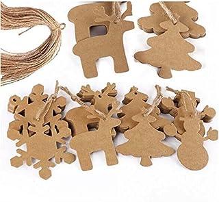 Tinksky 100 piezas Navidad copo de nieve colgantes navidad adornos árbol de fiesta decoración 20M cuerda