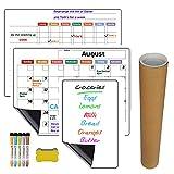 Gojiny Tablero de Mensajes para El Hogar Planificador Mensual Tablero de Mensajes para El Hogar Imán Magnético Calendario Tablero de Mensajes para El Frigorífico Planificador Mensual